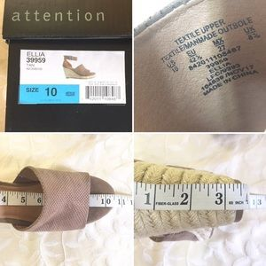 attention Shoes - 🆕 Attention Wedge Heels Tan Espadrilles New